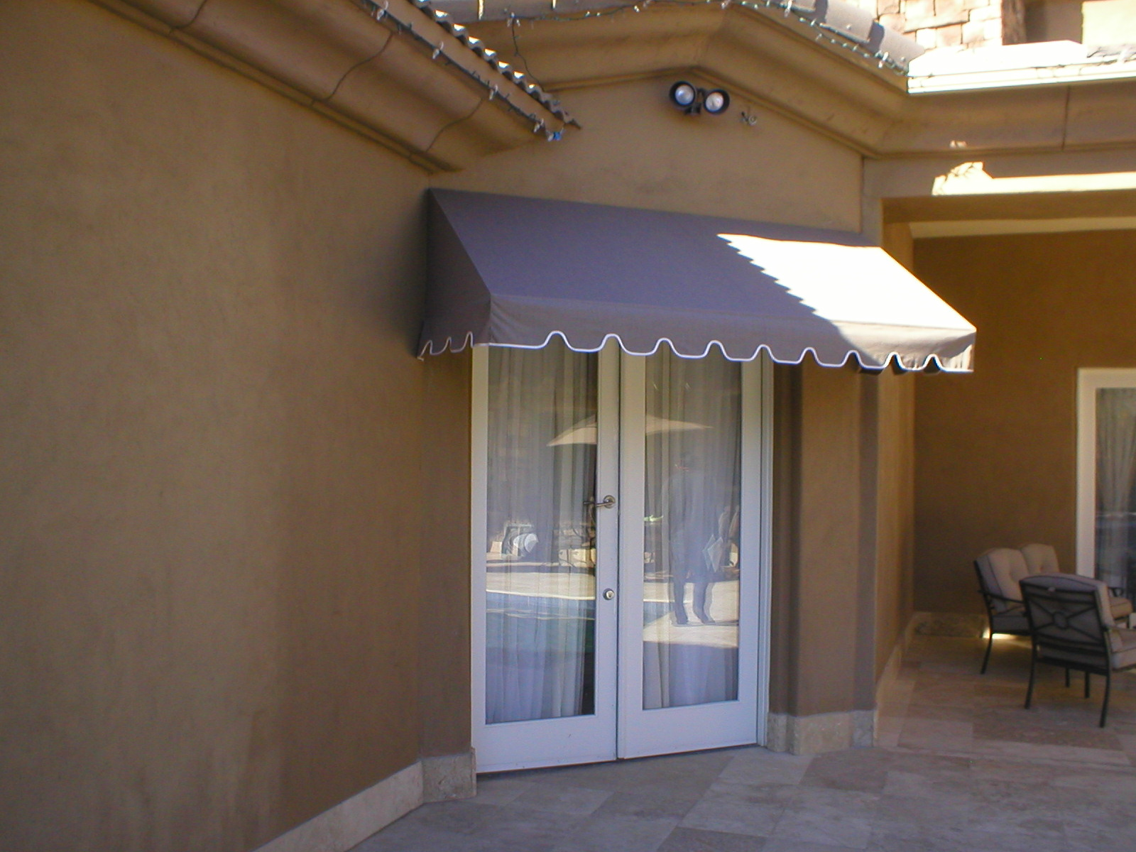 Awnings over a door